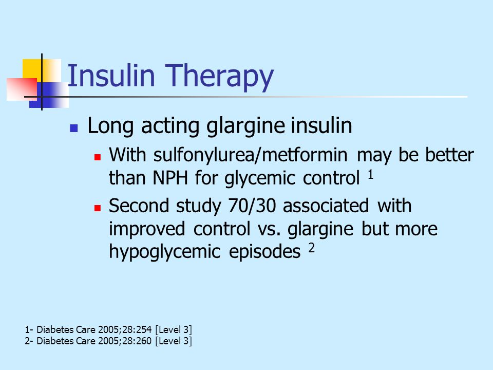 Insulin Therapy Long acting glargine insulin