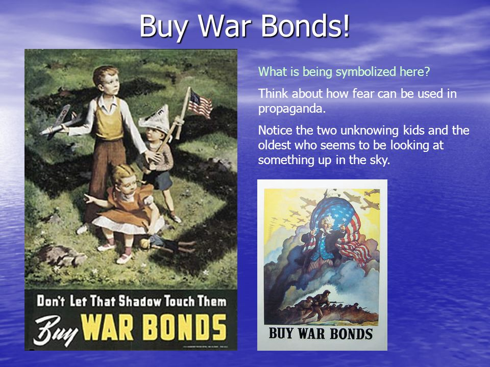 Buy War Bonds! What is being symbolized here