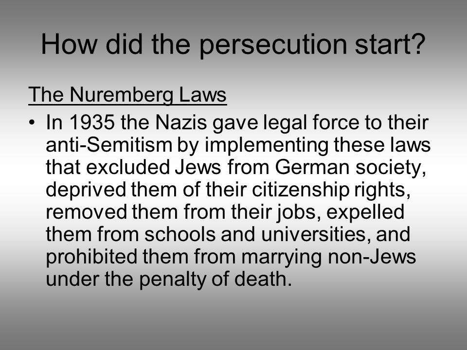 How did the persecution start