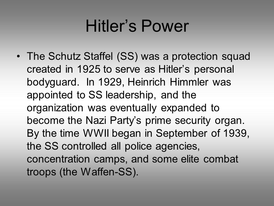 Hitler's Power