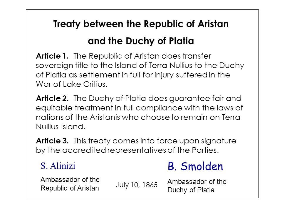 Treaty between the Republic of Aristan