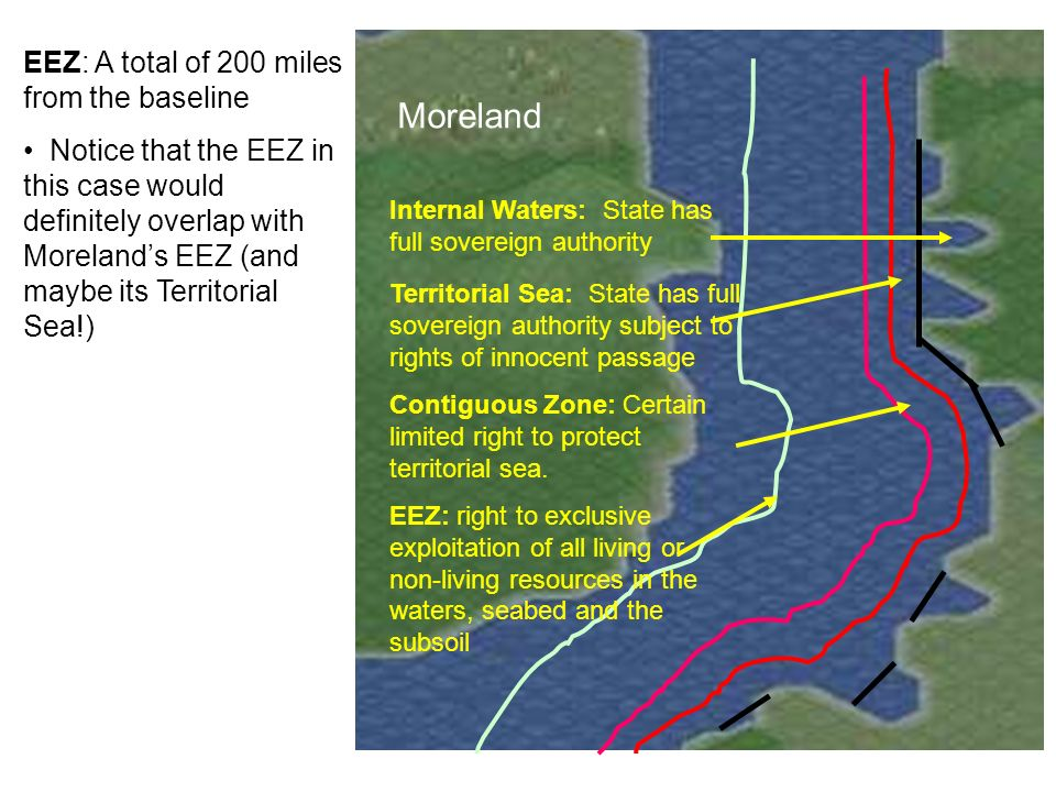 Moreland Platia EEZ: A total of 200 miles from the baseline