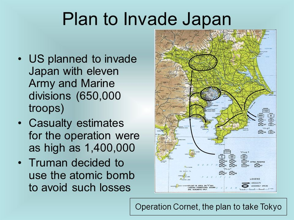 Operation Cornet, the plan to take Tokyo