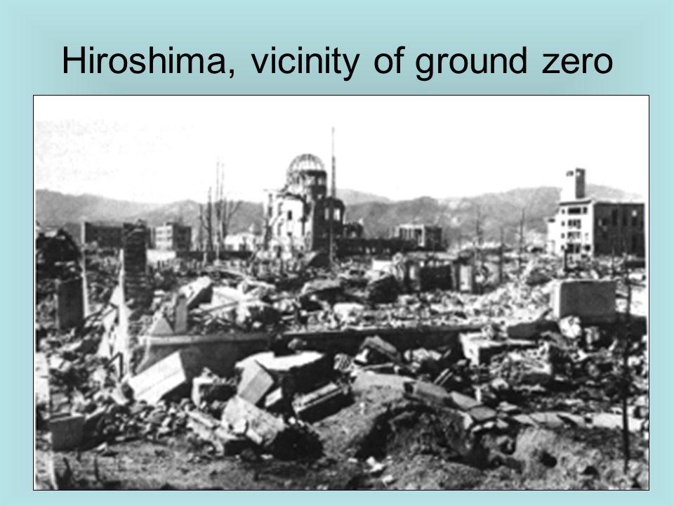 Hiroshima, vicinity of ground zero