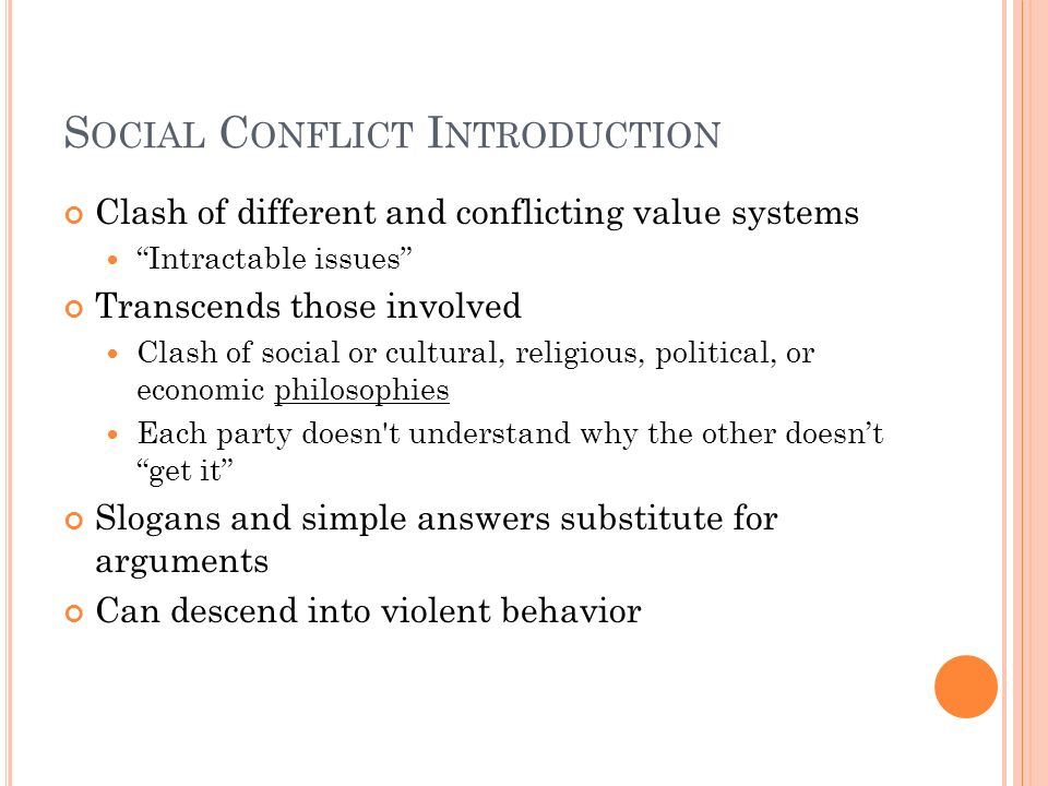 Social Conflict Introduction