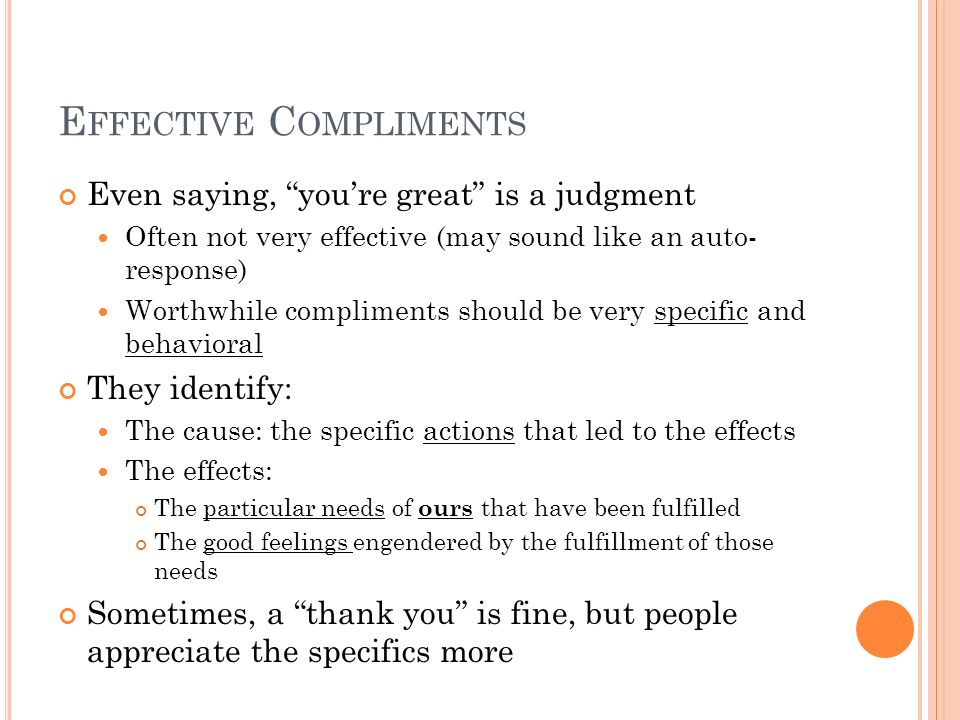 Effective Compliments