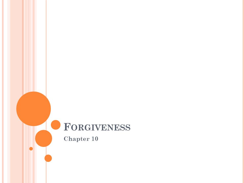 Forgiveness Chapter 10