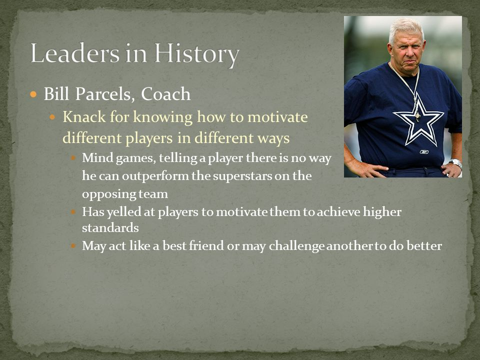 Leaders in History Bill Parcels, Coach