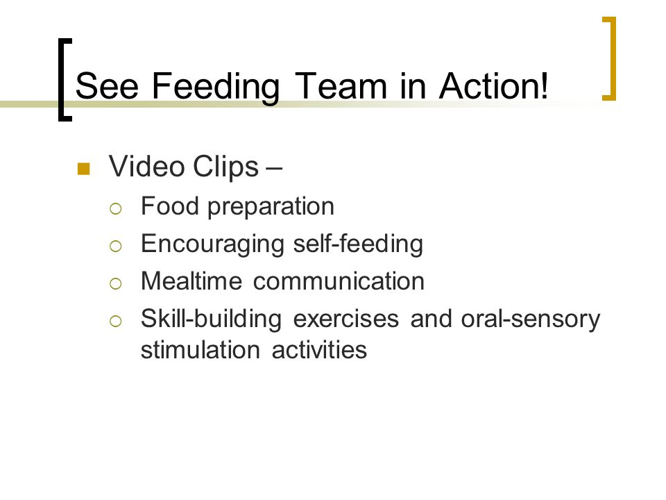 See Feeding Team in Action!