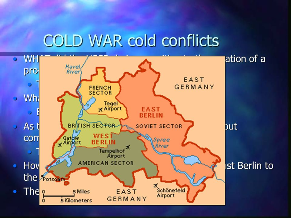 COLD WAR cold conflicts