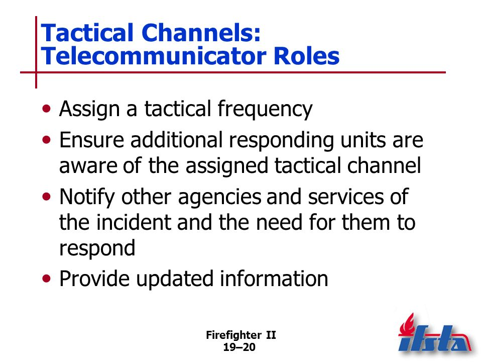 Tactical Channels: Telecommunicator Roles
