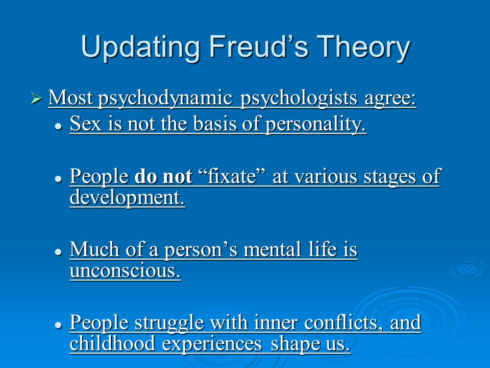 Updating Freud's Theory