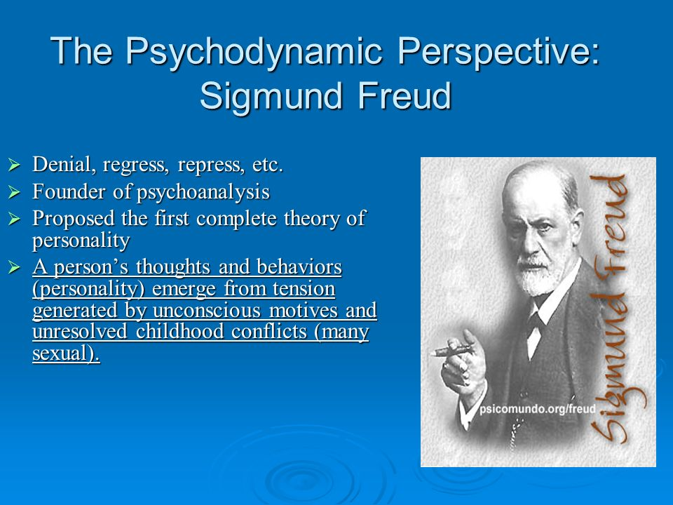 The Psychodynamic Perspective: Sigmund Freud