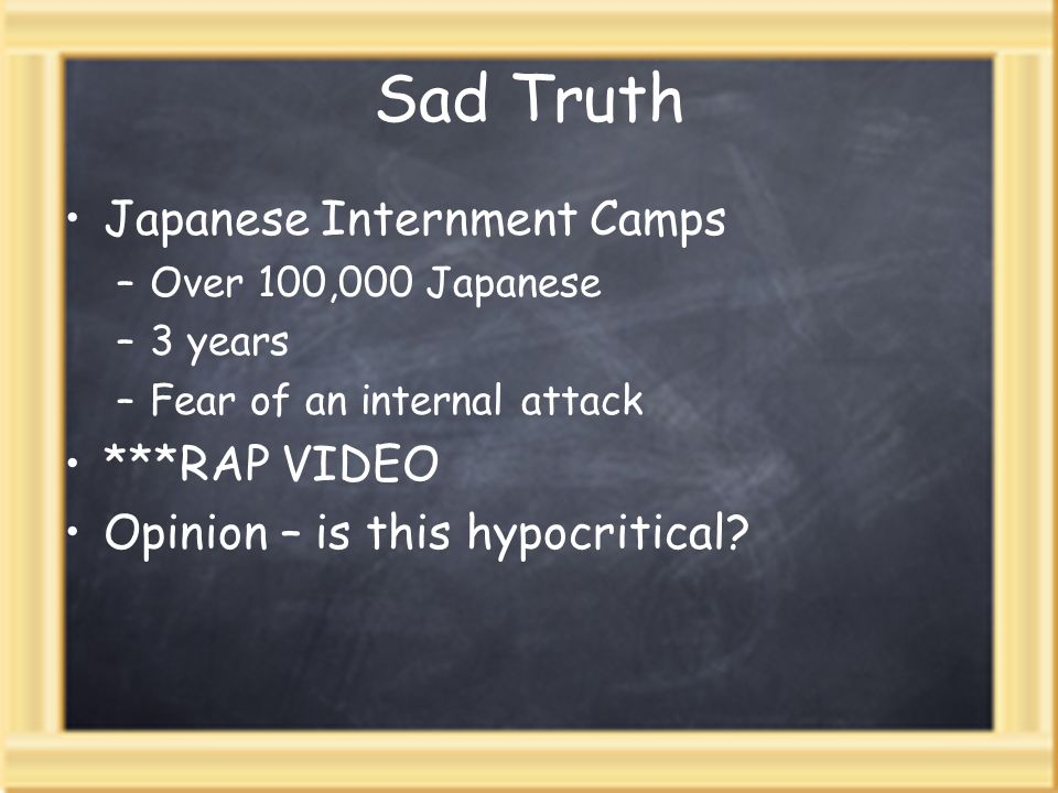 Sad Truth Japanese Internment Camps ***RAP VIDEO
