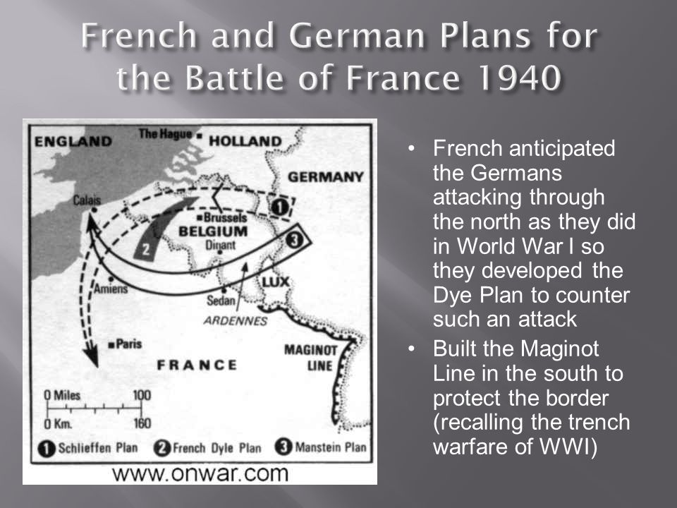 French and German Plans for the Battle of France 1940