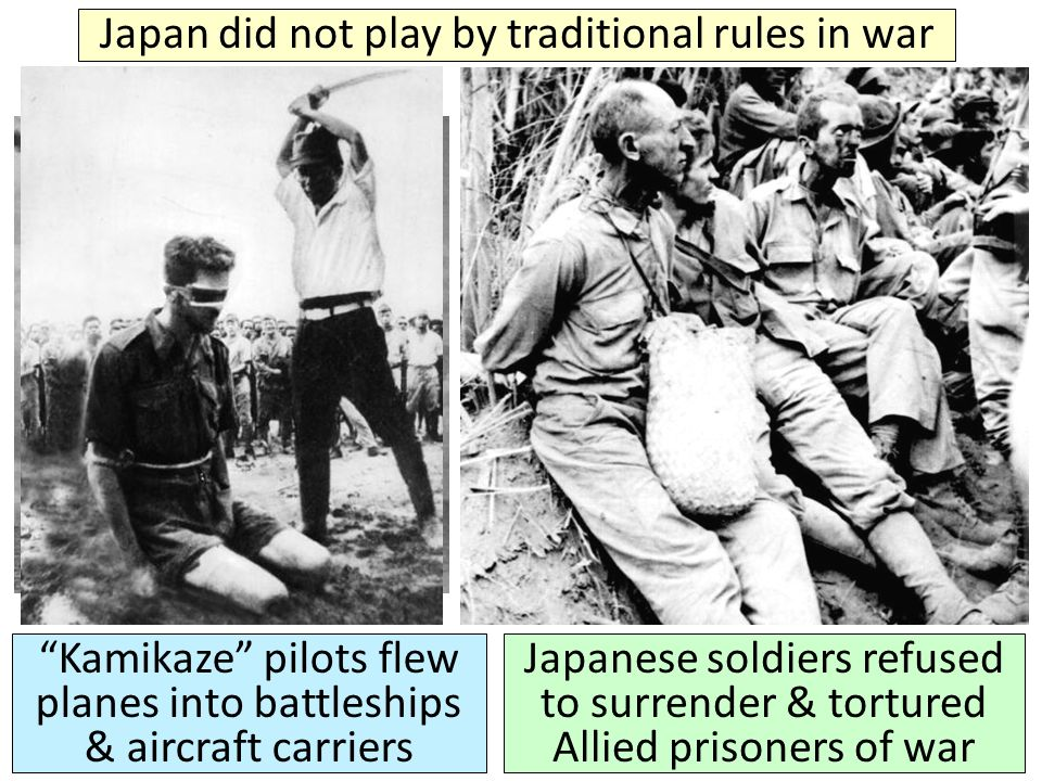 Japan did not play by traditional rules in war