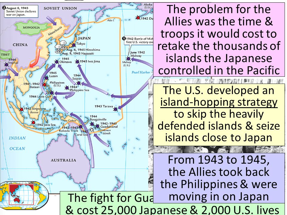 The problem for the Allies was the time & troops it would cost to retake the thousands of islands the Japanese controlled in the Pacific