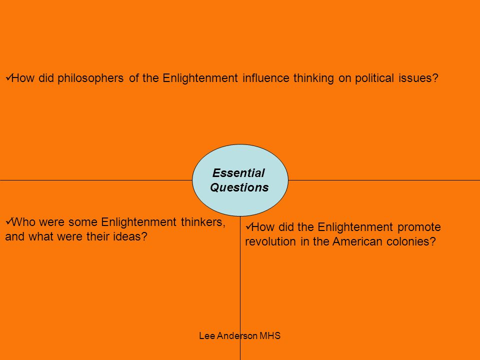 Who were some Enlightenment thinkers, and what were their ideas