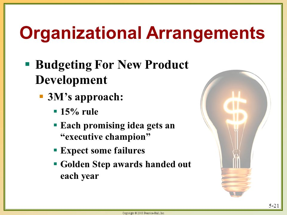 Organizational Arrangements