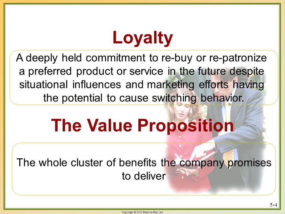 Loyalty The Value Proposition