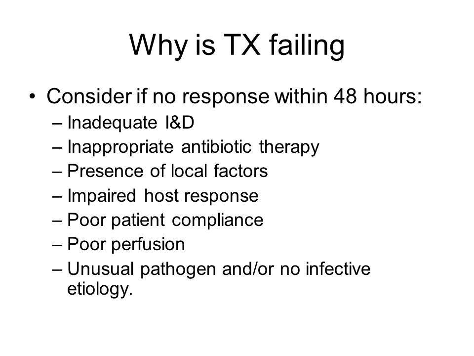 Why is TX failing Consider if no response within 48 hours: