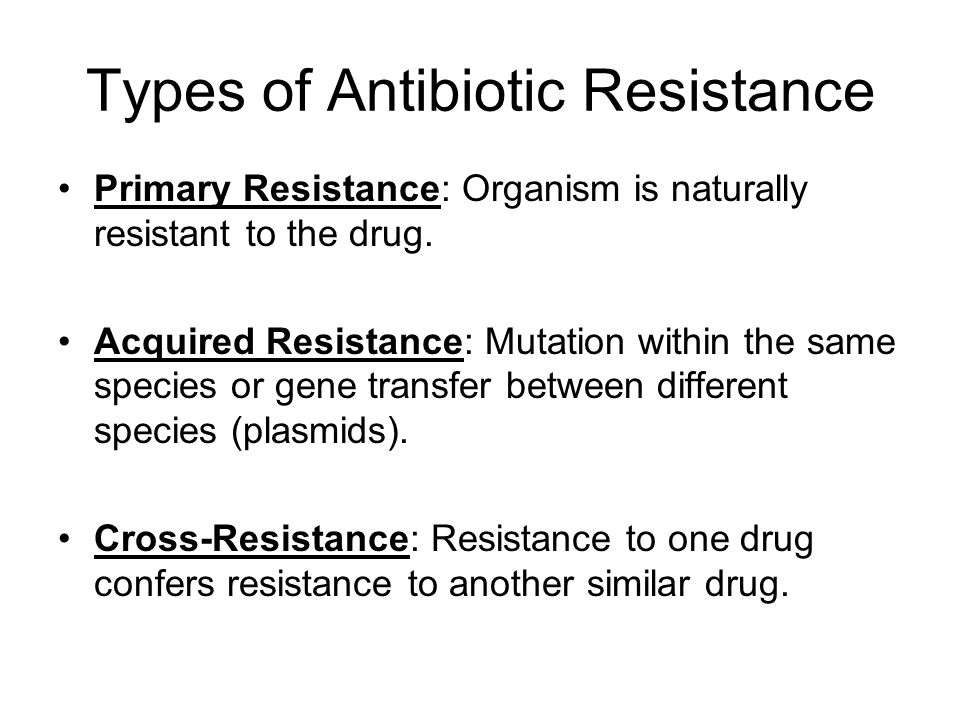Types of Antibiotic Resistance