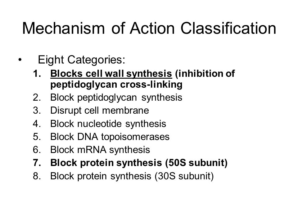 Mechanism of Action Classification