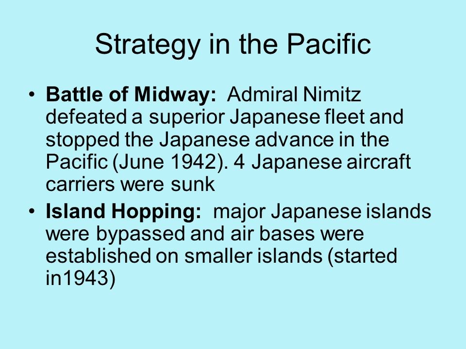 Strategy in the Pacific