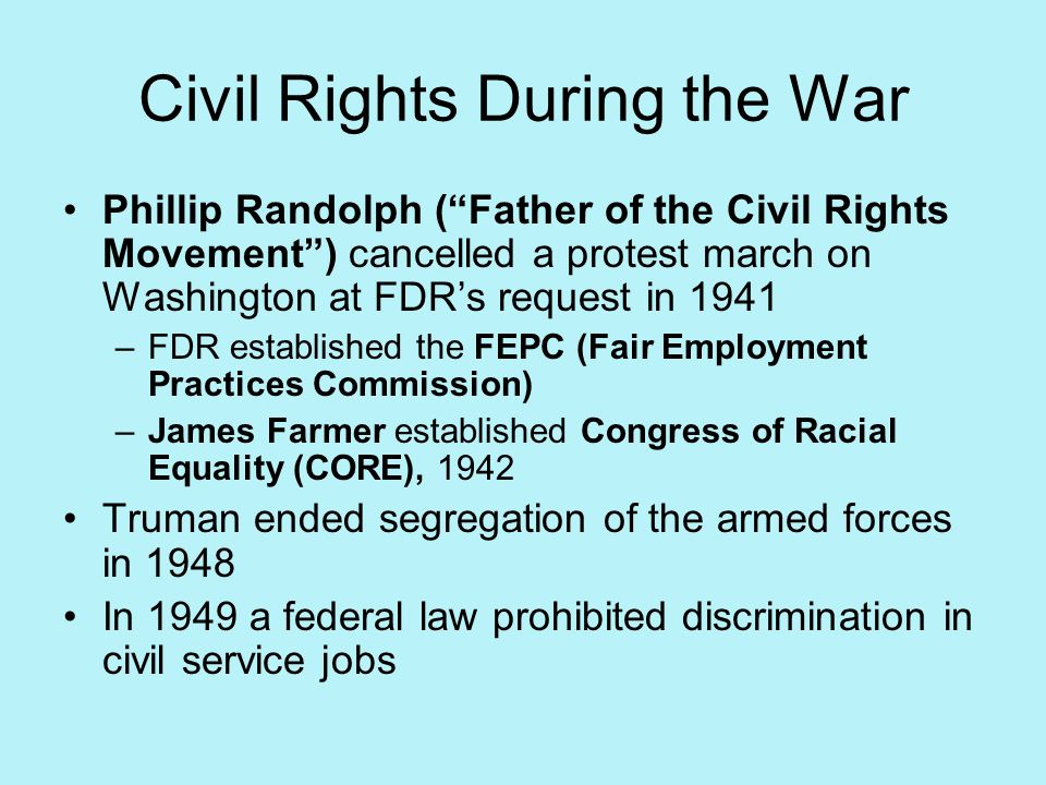 Civil Rights During the War