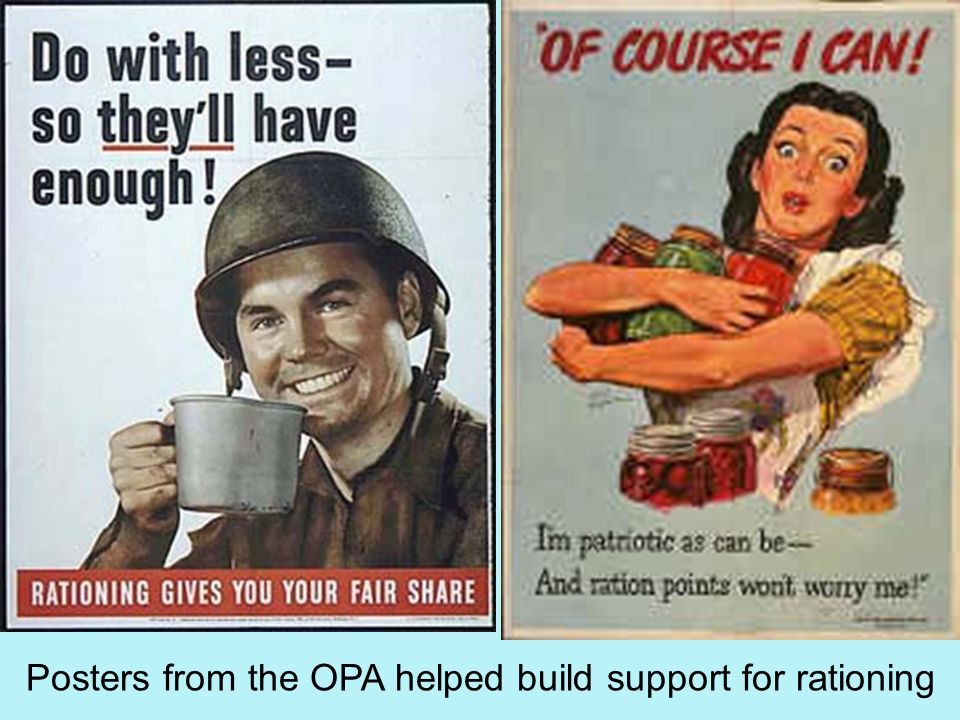 Posters from the OPA helped build support for rationing
