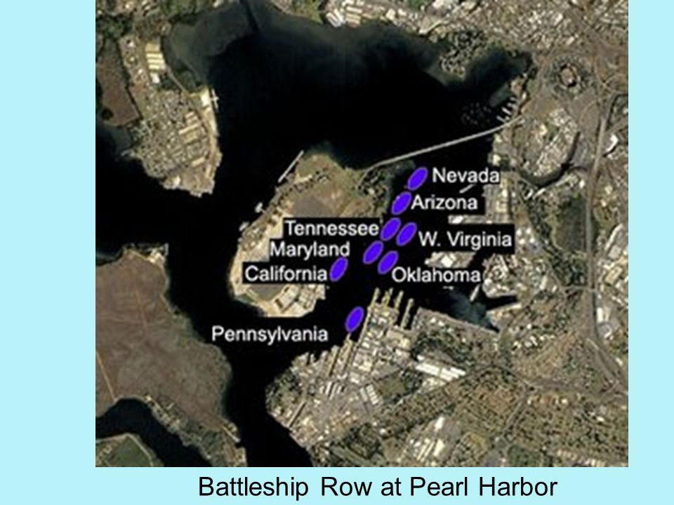 Battleship Row at Pearl Harbor