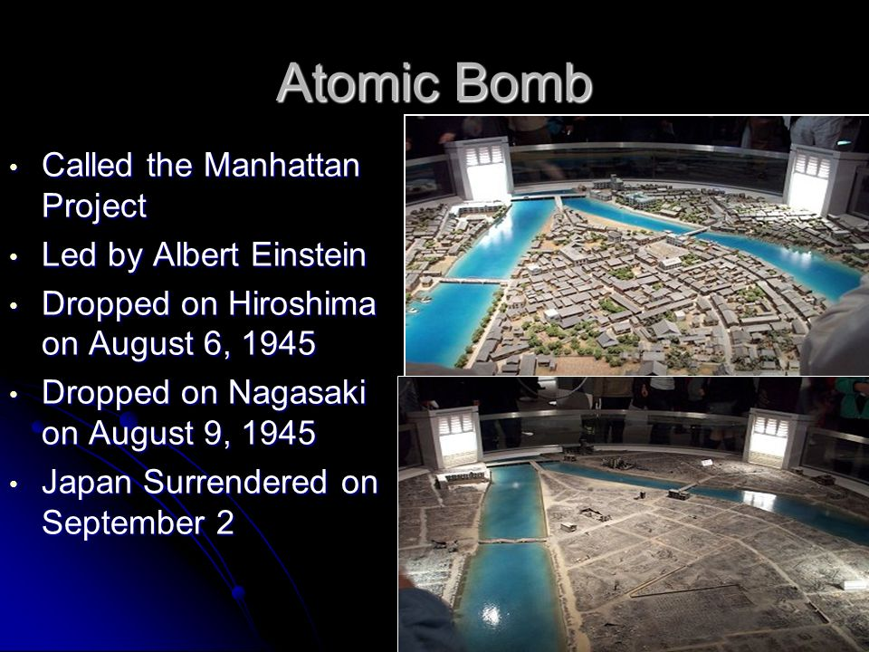 Atomic Bomb Called the Manhattan Project Led by Albert Einstein