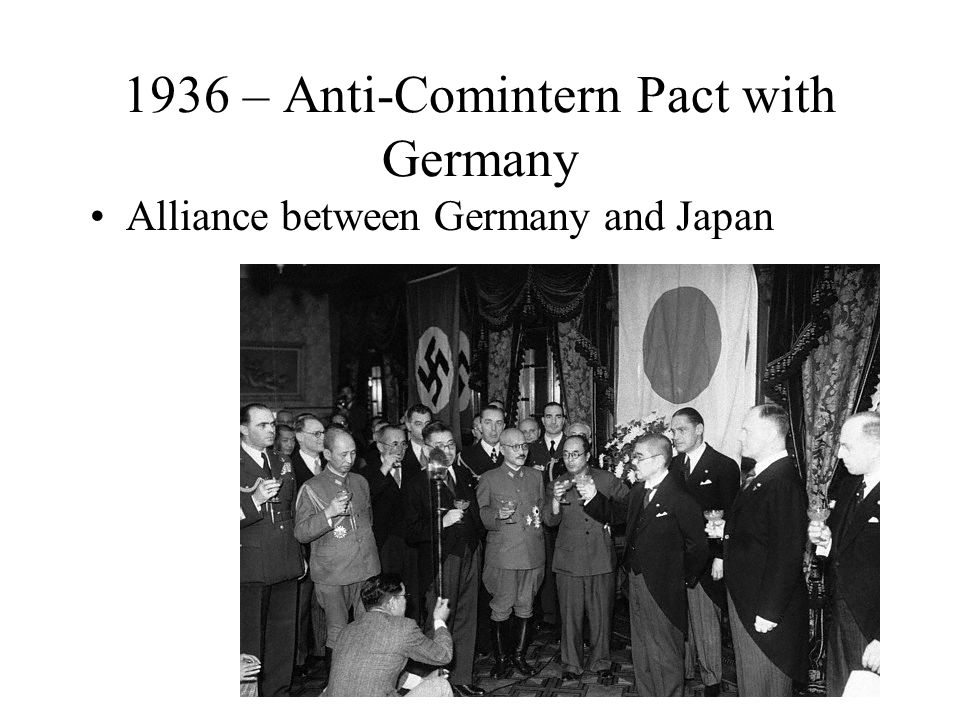 1936 – Anti-Comintern Pact with Germany