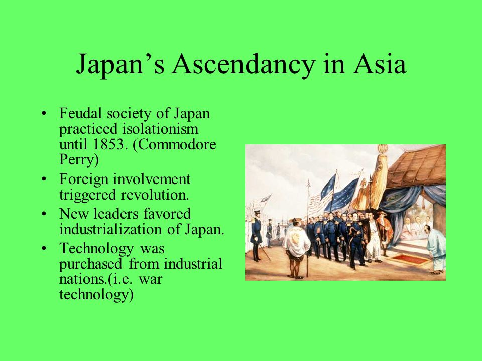Japan's Ascendancy in Asia