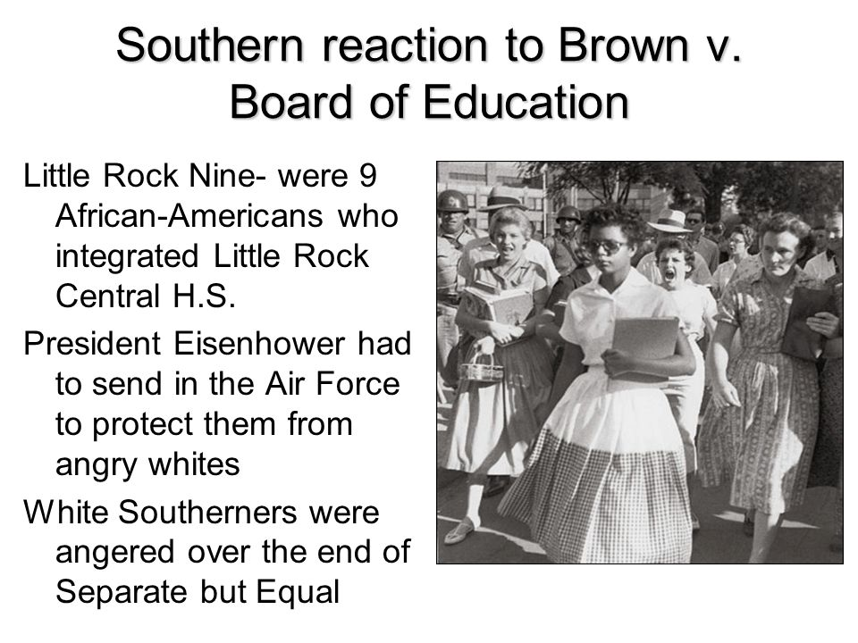 Southern reaction to Brown v. Board of Education