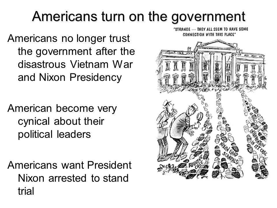 Americans turn on the government
