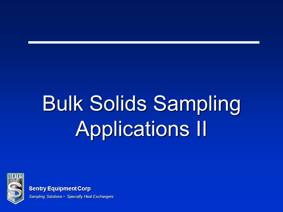 Bulk Solids Sampling Applications II