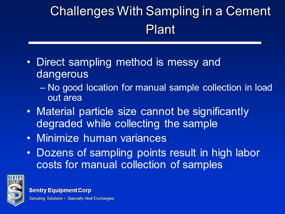 Challenges With Sampling in a Cement Plant