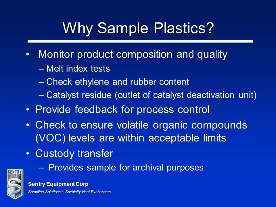 Why Sample Plastics Monitor product composition and quality