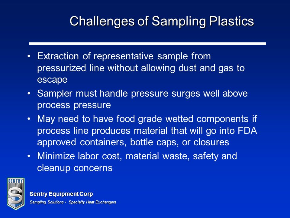 Challenges of Sampling Plastics