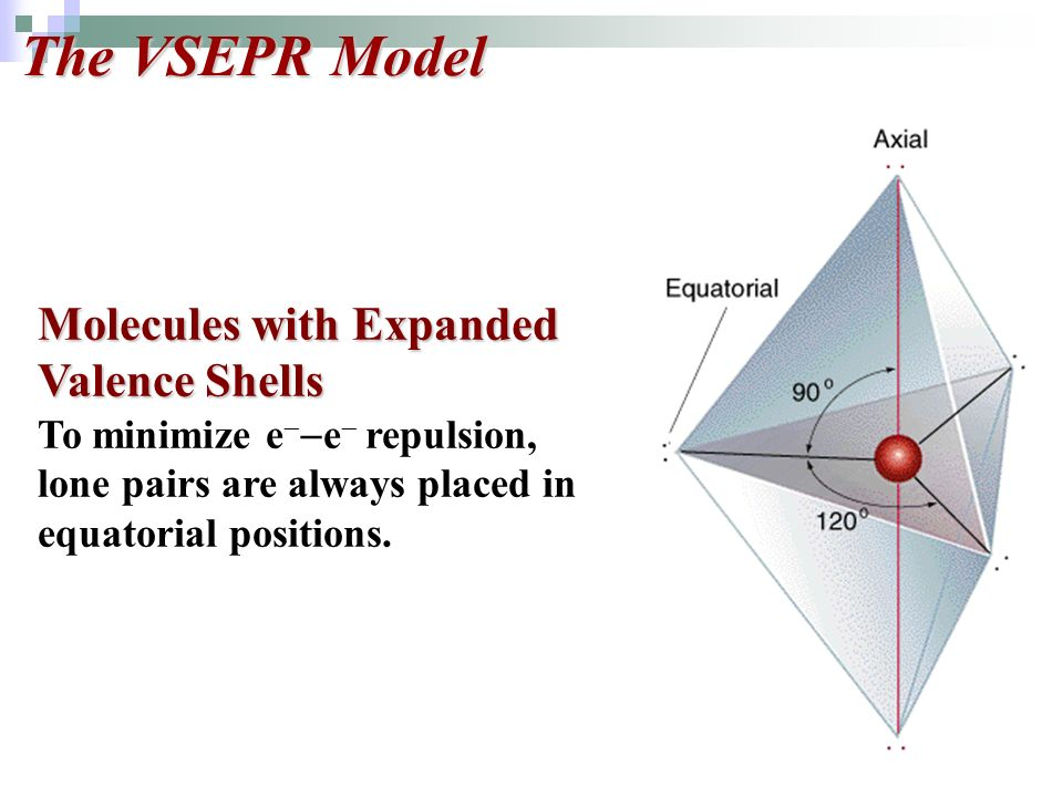 The VSEPR Model Molecules with Expanded Valence Shells