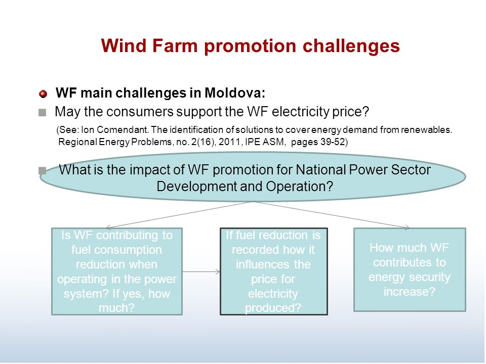 Wind Farm promotion challenges