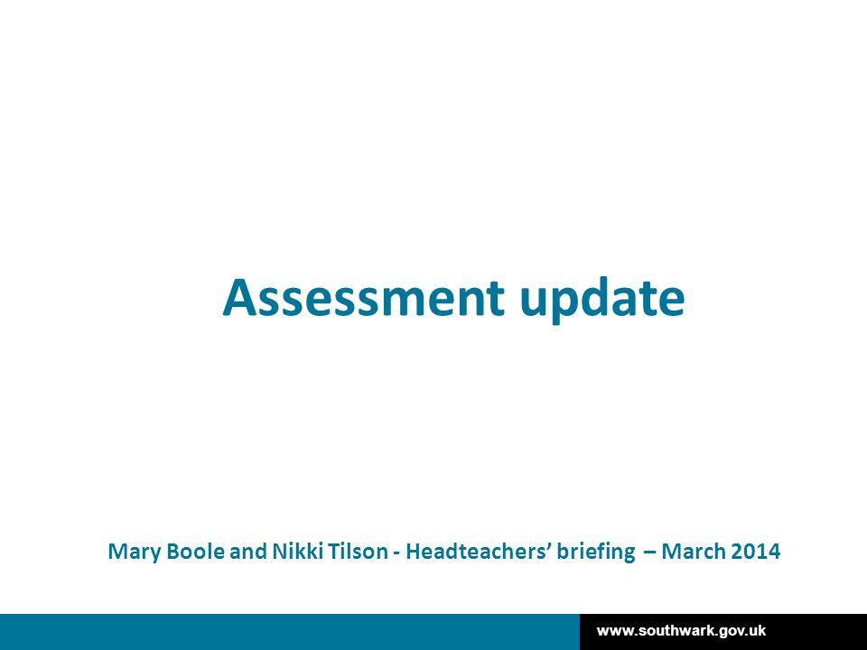 Mary Boole and Nikki Tilson - Headteachers' briefing – March 2014