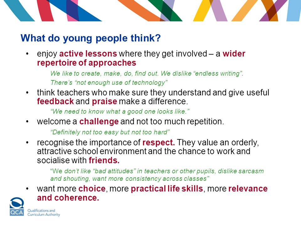 What do young people think