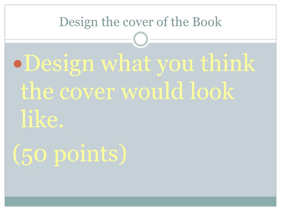 Design the cover of the Book
