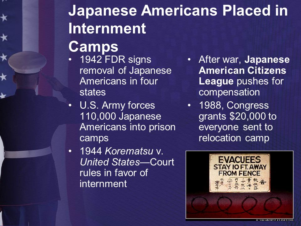 Japanese Americans Placed in Internment Camps