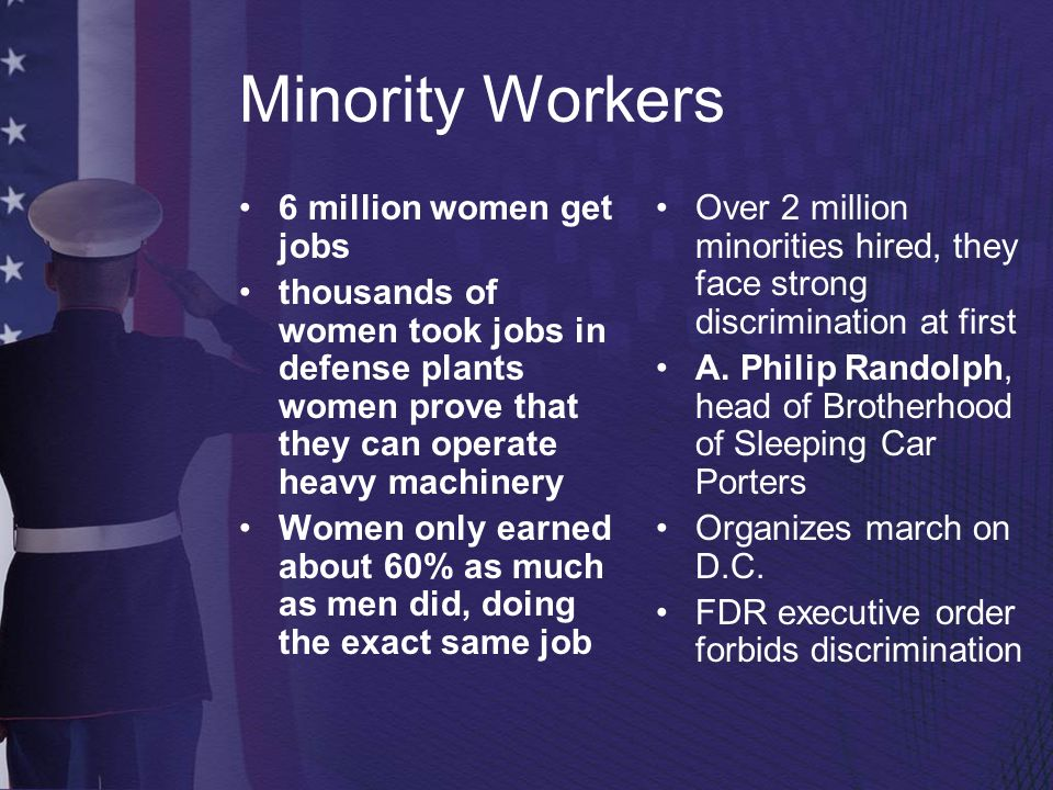 Minority Workers 6 million women get jobs
