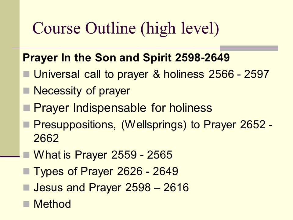 Course Outline (high level)