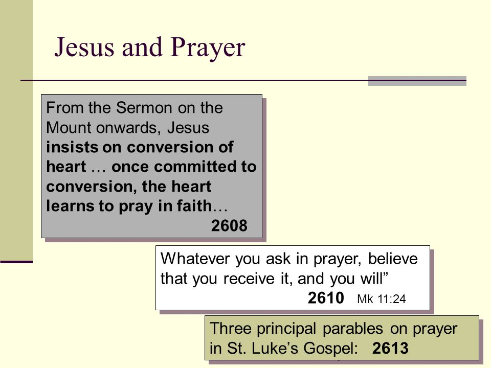 Jesus and Prayer