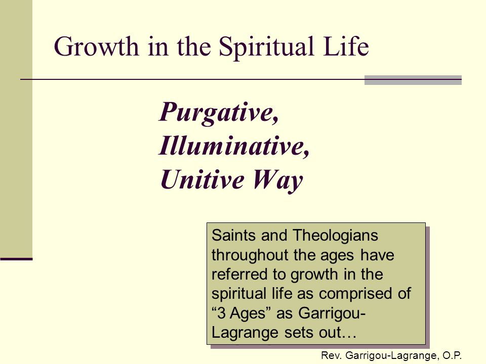 Purgative, Illuminative, Unitive Way